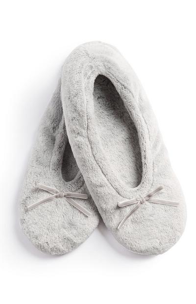 Grey Soft Slipper Socks