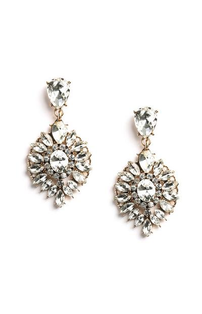 Diamante Drop Earring
