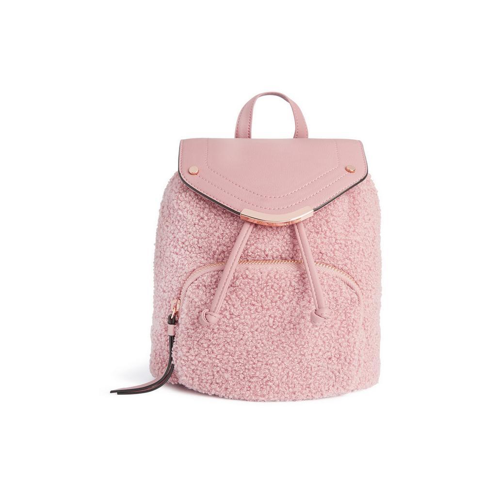 Venta caliente genuino imágenes oficiales tienda del reino unido Mochila rosa de pelo sintético   Mochilas   Bolsos, carteras ...
