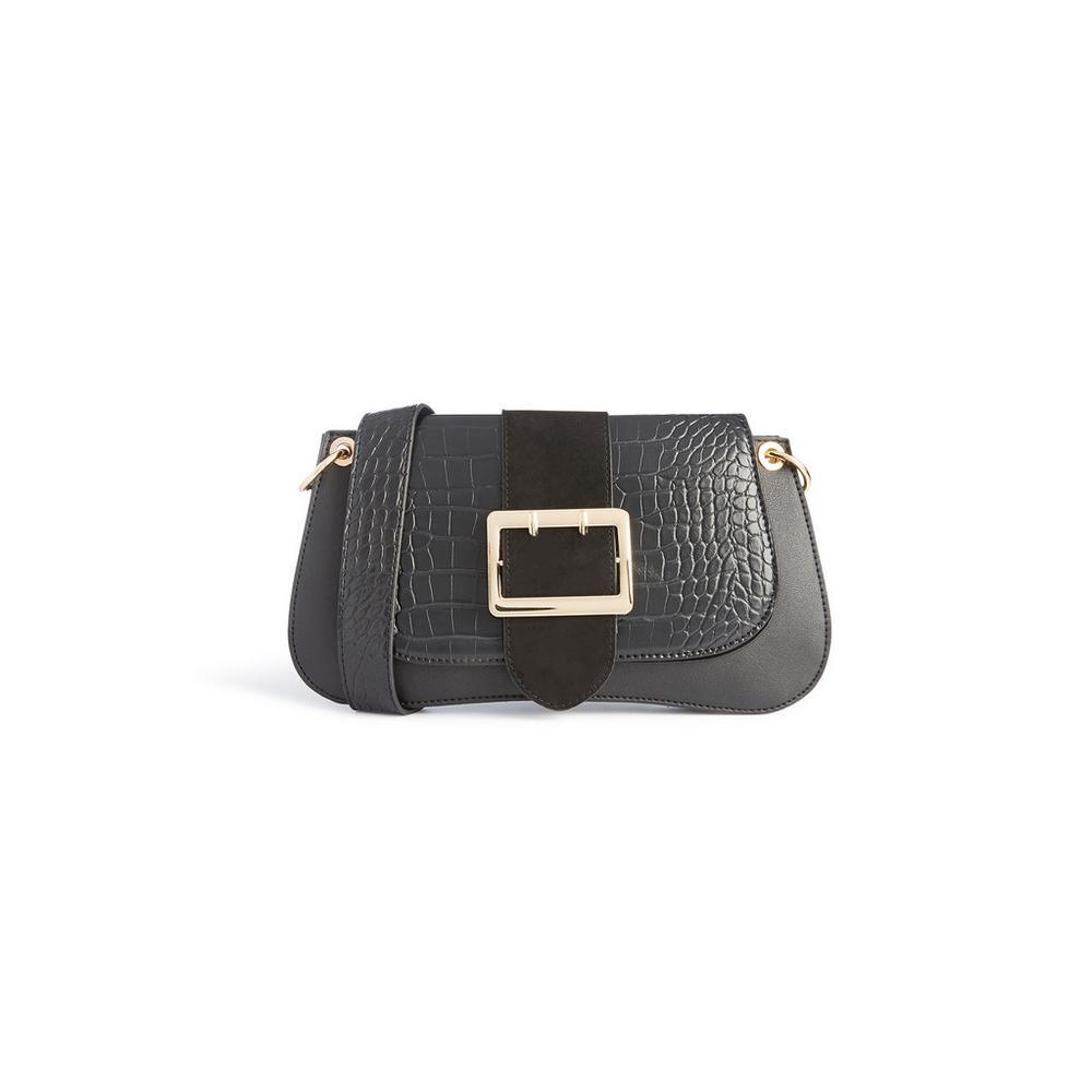 black-buckle-shoulder-bag by primark