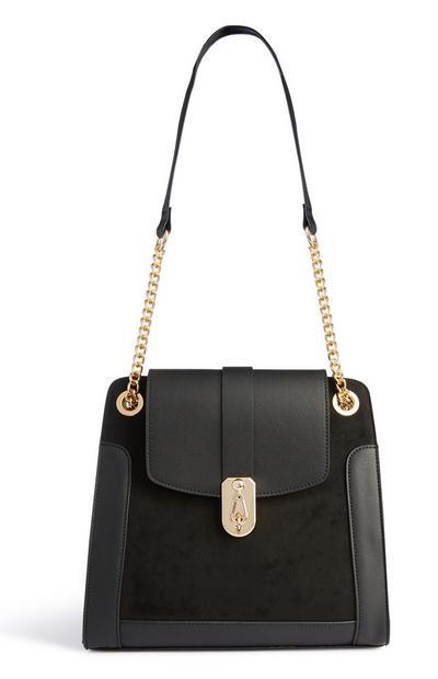 Black Padlock Shoulder Bag