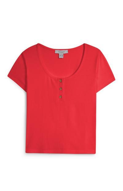 Red Crop T-Shirt