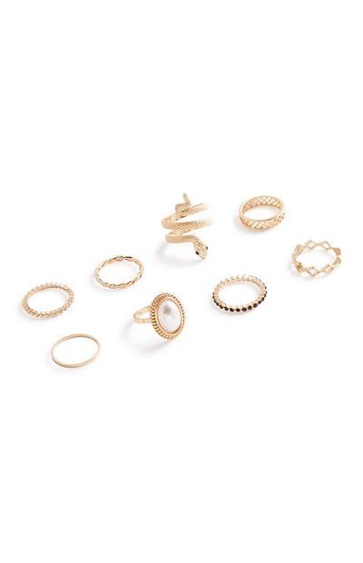 Snake Rings 8Pk