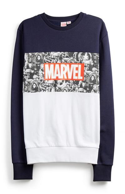 Navy Marvel Sweatshirt
