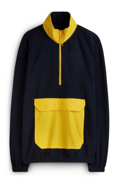 Blue And Yellow Fleece