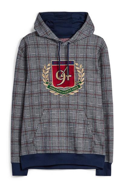 Crest Check Hoodie