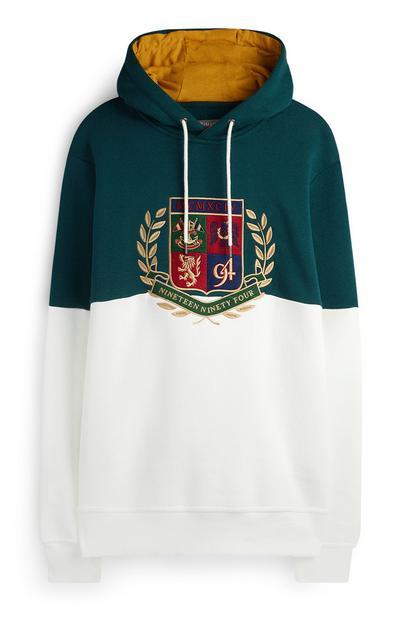 Crest Colour Block Hoodie