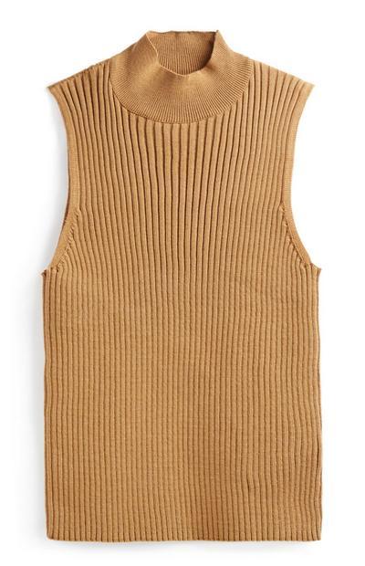 Tan Knit Top