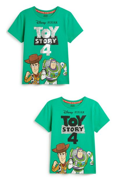 Younger Boy Toy Story Brushed Sequin T-Shirt