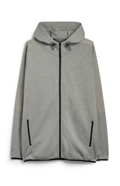 Grey Zip Up Jacket