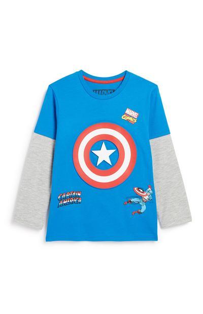 Younger Boy Captain America Top