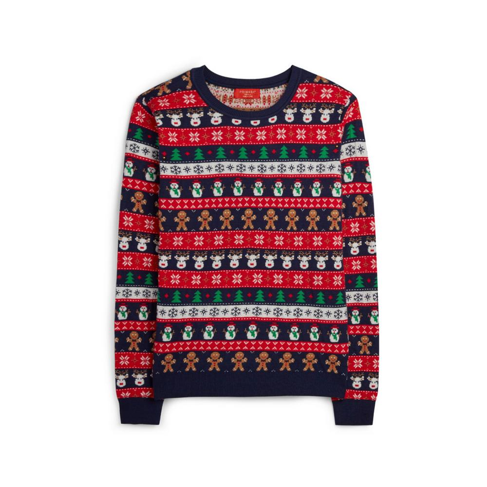 Navy Christmas Jumper by Primark