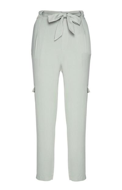 Light Green Belted Trouser