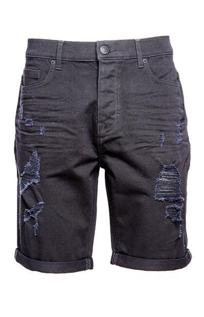 Black Ripped Shorts