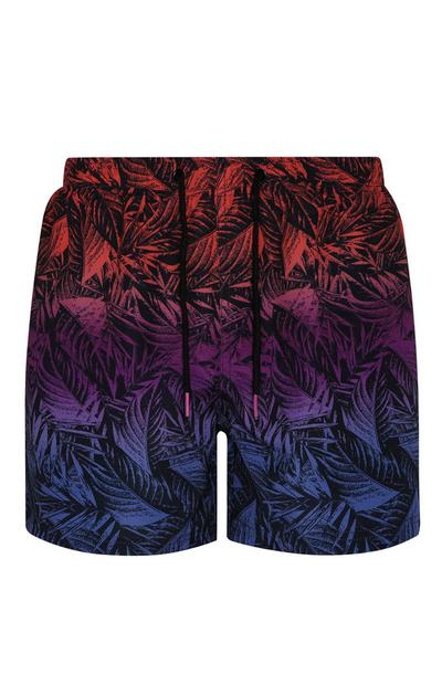 Ombre Palm Print Short
