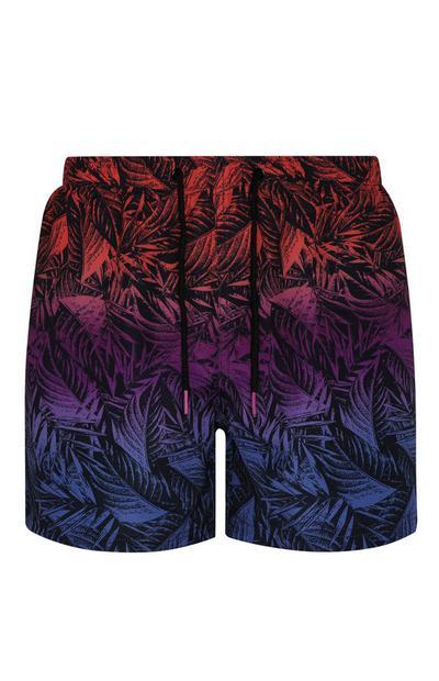 Ombre Palm Print Short