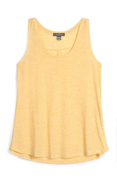 Yellow Loose Fit Vest