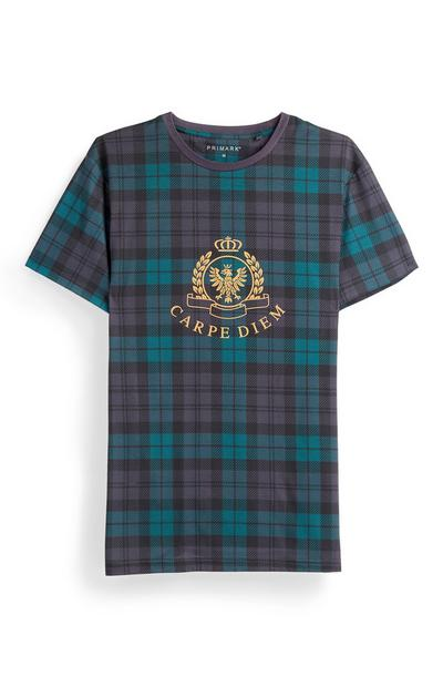 Green Check Crested T-Shirt