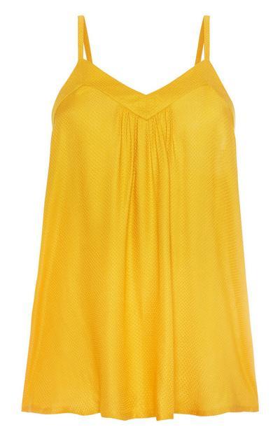 Mustard Pyjama Cami Top