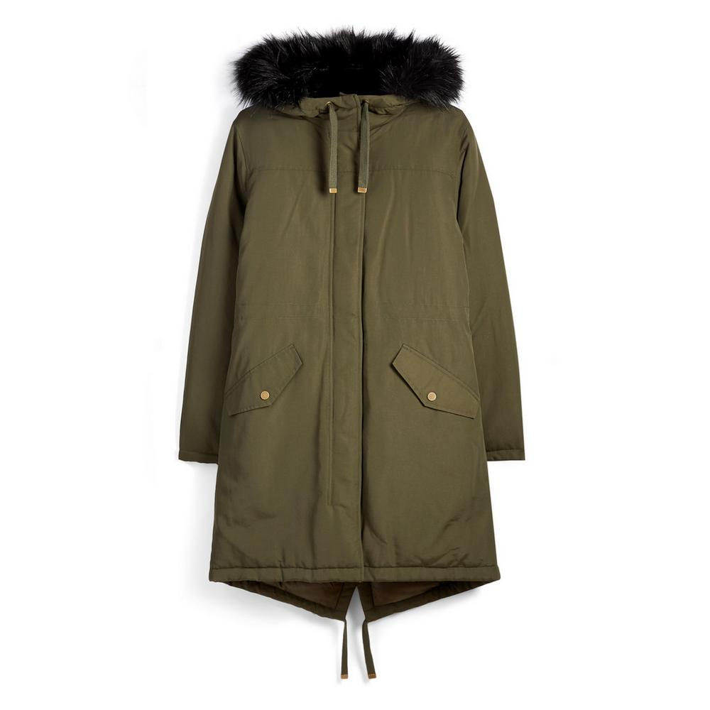 Khaki Parka Jacket by Primark