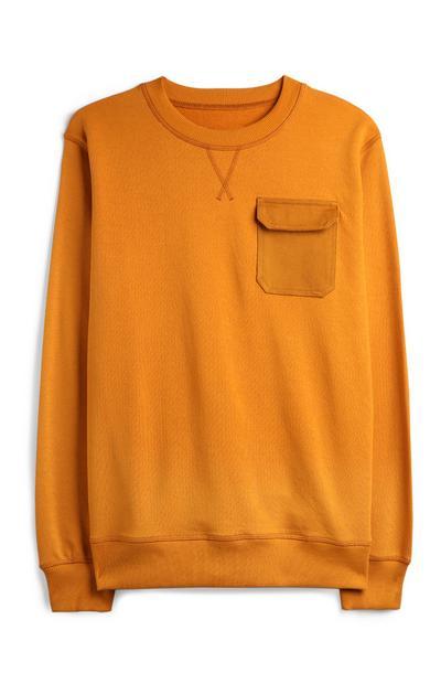 Mustard Pocket Sweatshirt