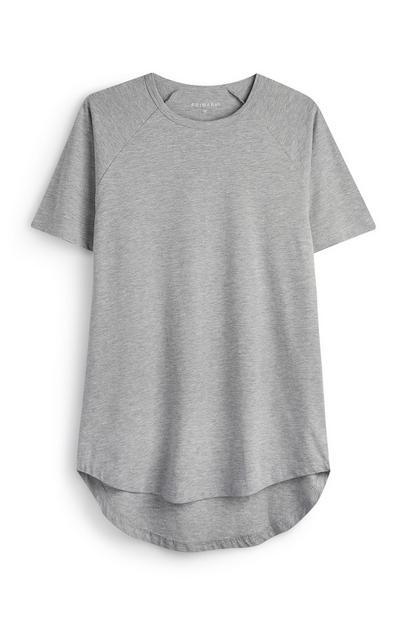 Grey Longline T-Shirt