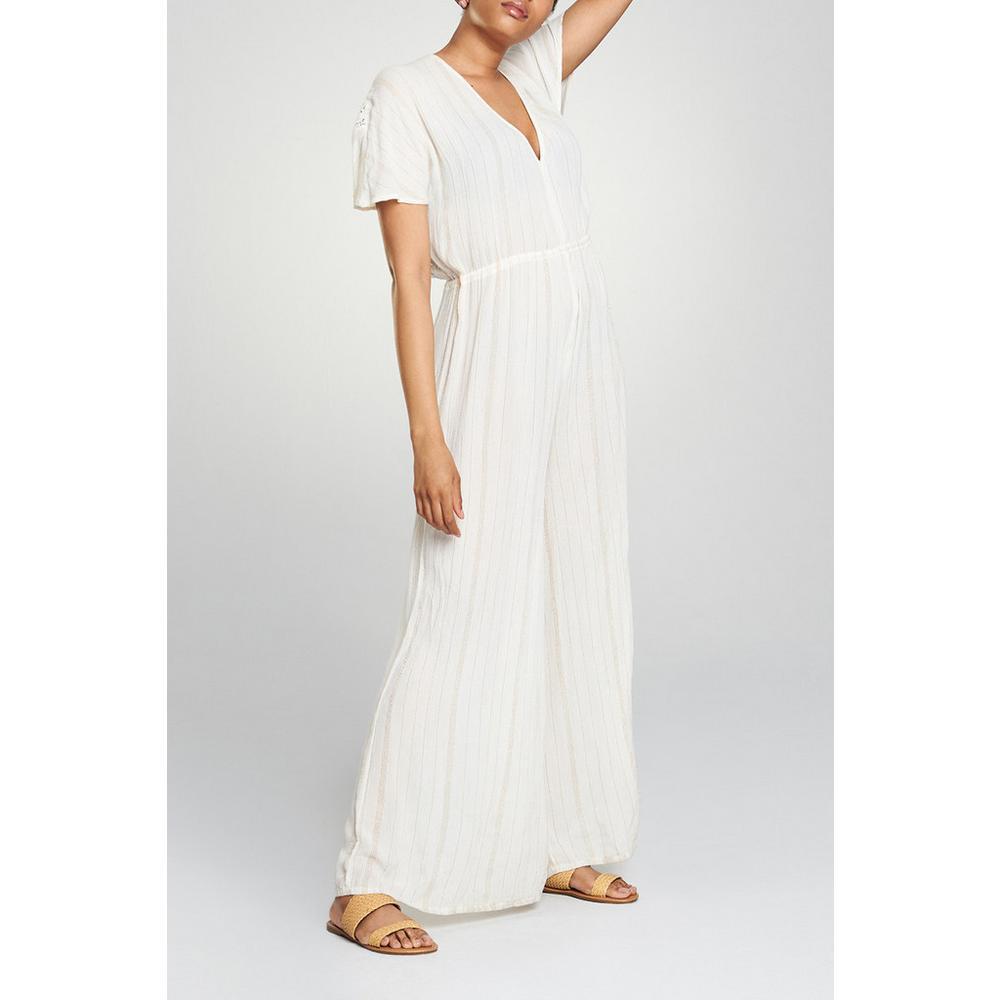 White Stripe Jumpsuit Swimwear Beachwear Womens