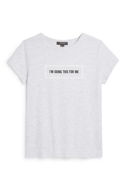 Grey Slogan T-Shirt