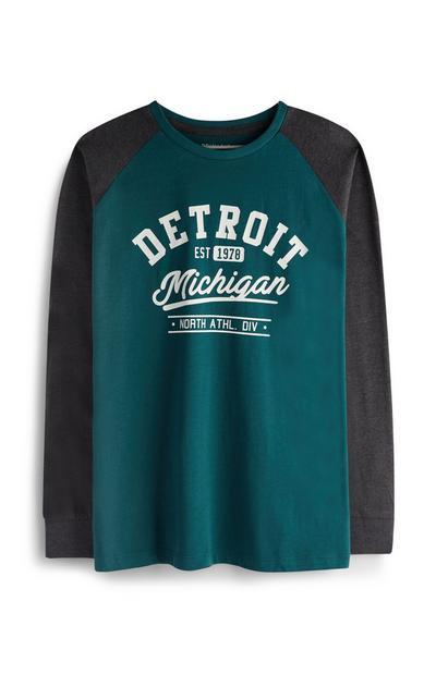 Older Boy Detroit Raglan Top