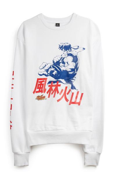 White Street Fighter Sweatshirt