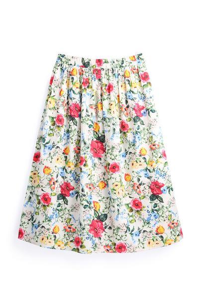 Floral Garden Midi Skirt