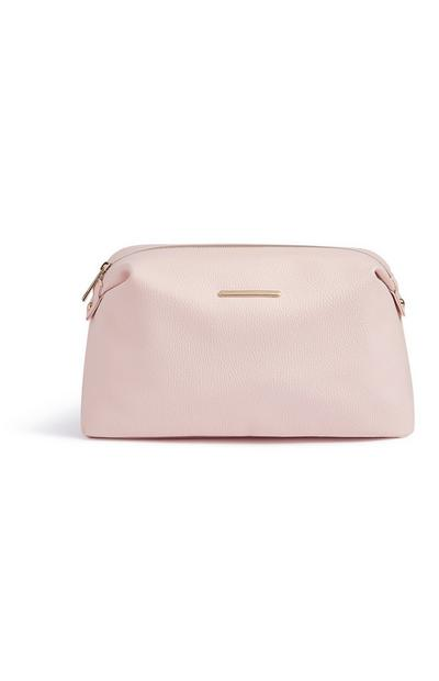 Large Pink Makeup Bag