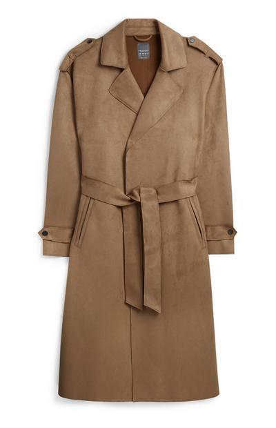 Brown Suede Coat