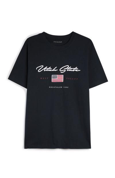 Navy Utah State T-Shirt