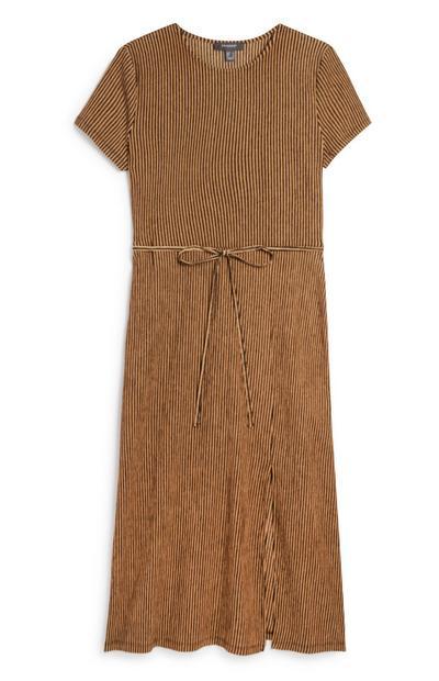 Taupe Crinkle Dress