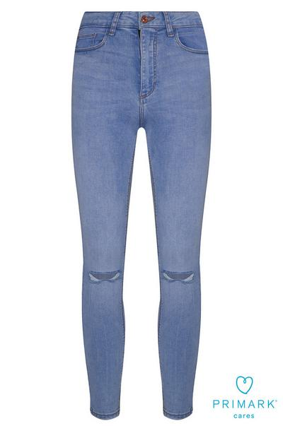 Skinny Ripped Sustainable Cotton Jeans