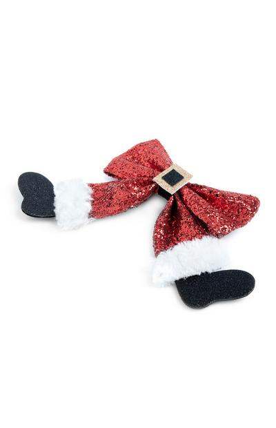 Christmas Bow Hair Clip