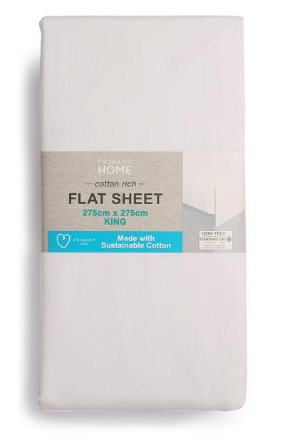 Sustainable Cotton King Size Flat Sheet