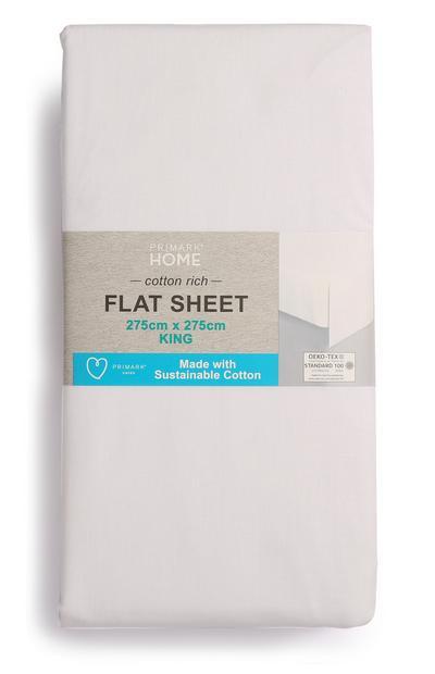 Sustainable Cotton King Size Flat Sheet