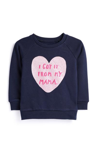 Baby Girl Navy Jumper