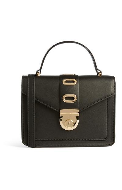 Black Gold Clasp Bag