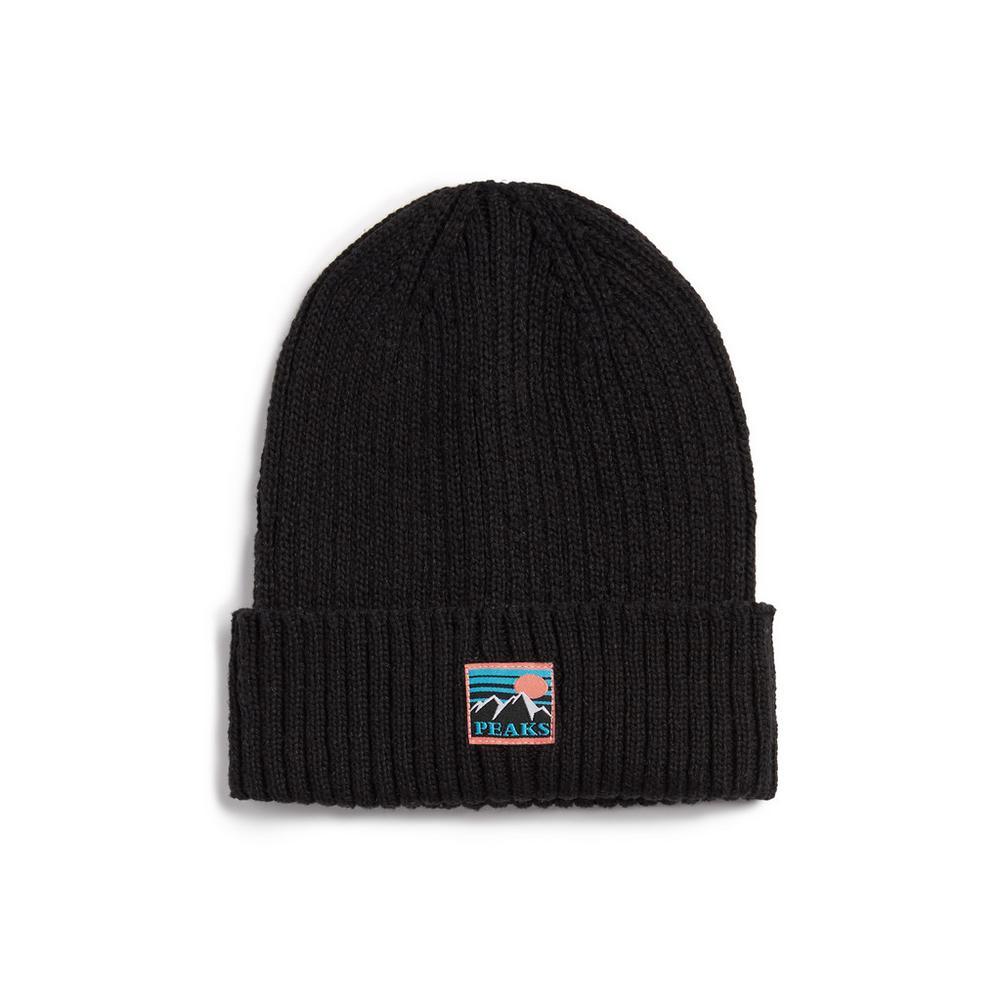 Www Arthur Bonnet Com Accessoires bonnet noir à revers peaks | chapeaux, gants et écharpes