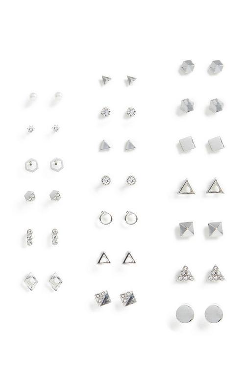 20 Pack Multi Stud Earrings by Primark
