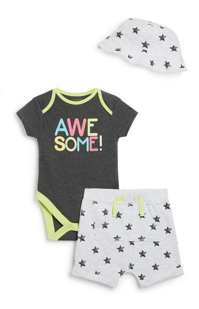 Newborn Baby Boy 3Pc Set