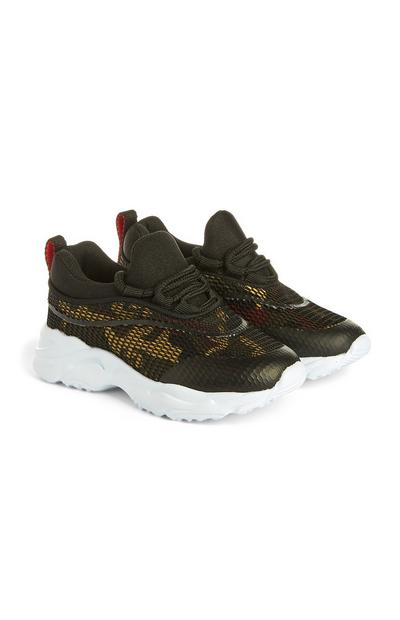 Younger Boy Camo Trainers