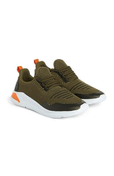 Younger Boy Khaki Trainers