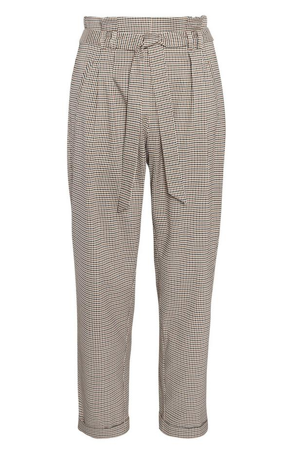 Belted Paperbag Peg Trousers
