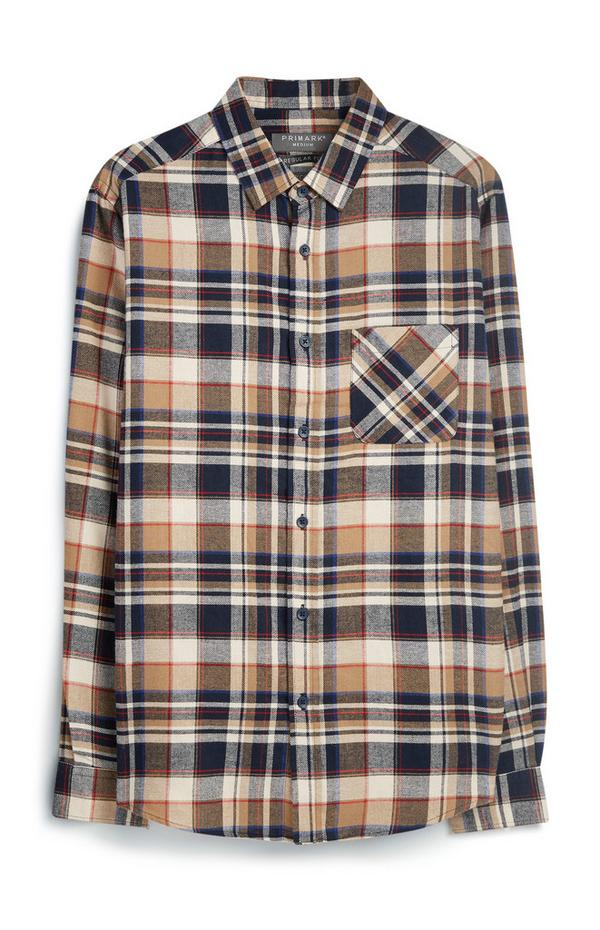 Camel Check Flannel