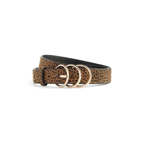 l'atteggiamento migliore d7068 a99f3 Cintura con stampa leopardata e 3 passanti | Sandali | Scarpe e ...