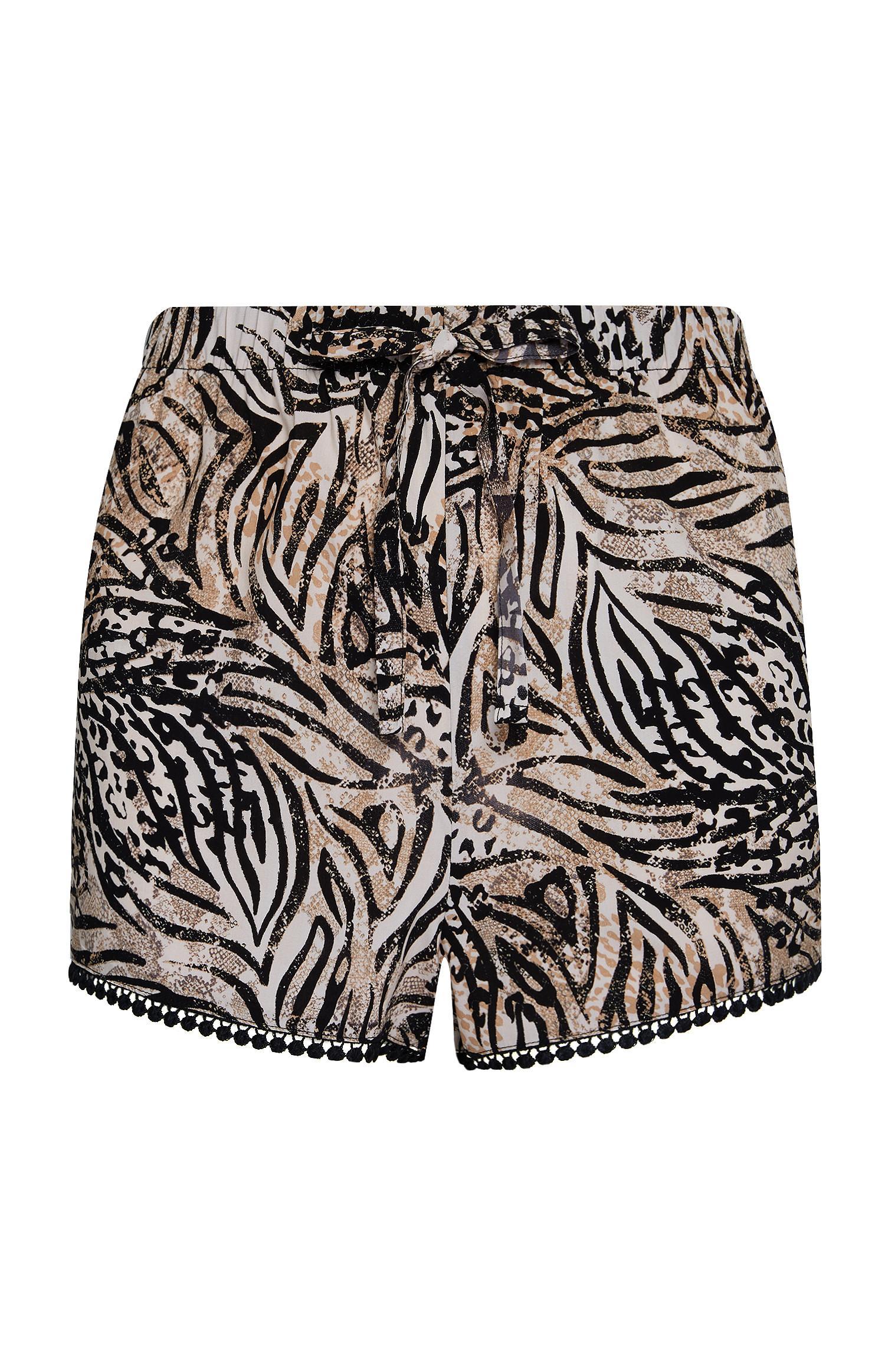 Short marron à imprimé zébré   Pyjamas  